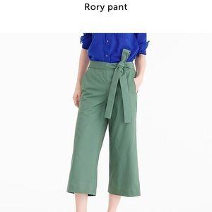 J Crew Rory wide legged cropped pant  Woman's Sz 6
